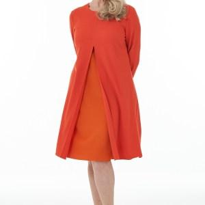 Orange and Mandarin Open front contrast dress