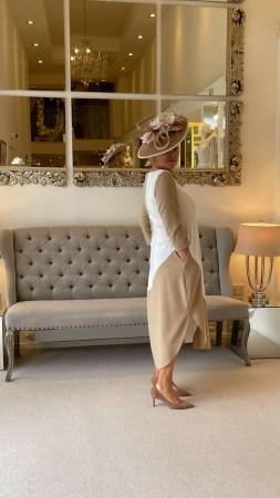 Camel and Ivory Flash Dress