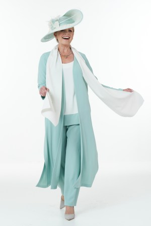 Mint and Ivory Trouser Suit