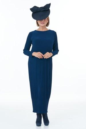 Navy Pleated dress