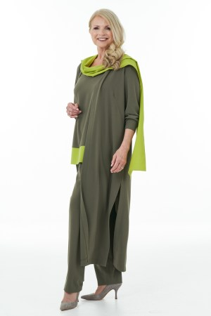 Olive and Lime trouser outfit