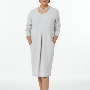 Pebble V Neck Dolman Dress