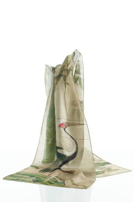 Crane Silk Scarf