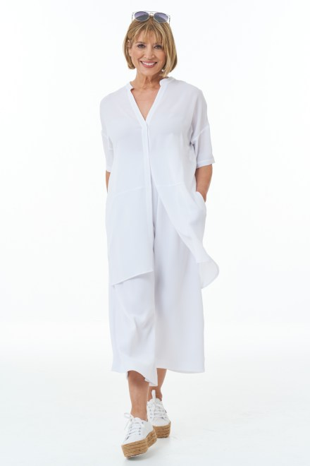 White Trousers and Tunic with White Shirt
