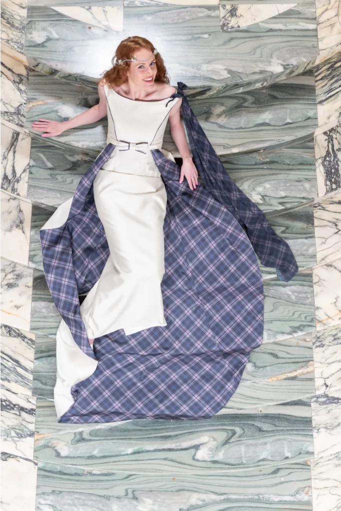 Iona Tartan Wedding Dress
