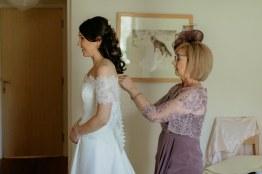 Sally and Ferguson Wedding with Mum Jennifer