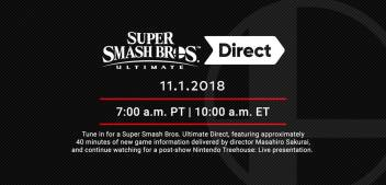 Super Smash Bros. Ultimate Direct coming November 1st