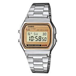 d5fc34ea54e4 Reloj Casio retro plateado bicolor