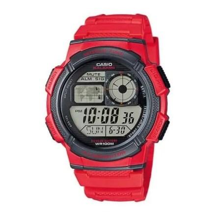 Reloj Casio AE-1000W-4AVEF de hombre NEW con caja y correa de resina rojo Casio Collection
