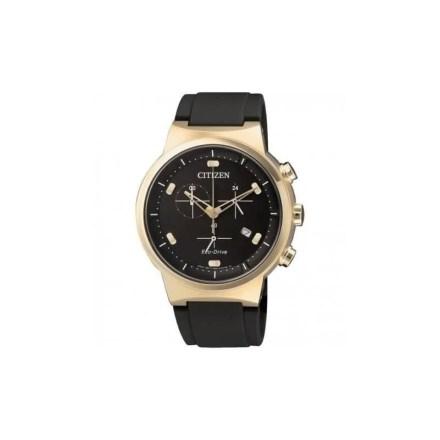 Reloj Citizen AT2403-15E de hombre NEW con caja de acero ip oro rosa y correa de caucho negra Eco-Drive