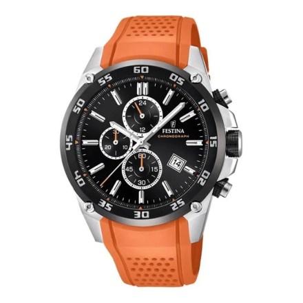 Reloj Festina F20330/4 de hombre NEW con caja de acero y correa de resina naranja colección The Originals