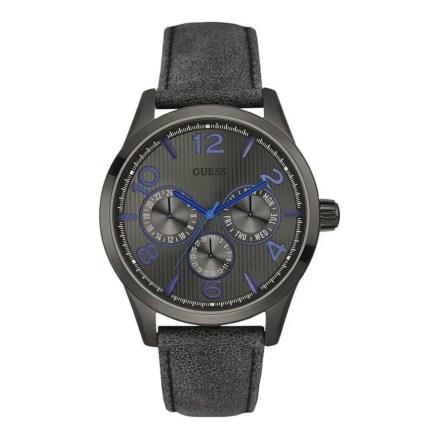 Reloj Guess W0493G4 de hombre NEW con caja de acero pavonado en negro y correa de piel Passage 2015