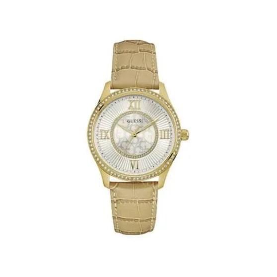 Reloj Guess W0768L2 de mujer NEW con caja de acero ip chapado y correa de piel Brodway 2016
