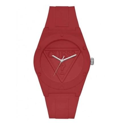 Reloj Guess W0979L3 de mujer NEW con caja y correa de resina roja nuevo modelo colección Retro-Pop
