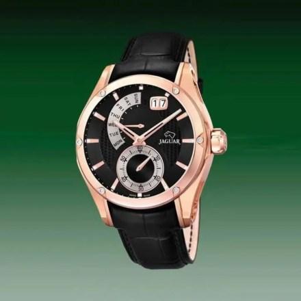Reloj Jaguar J679/A de hombre NEW con caja de acero ip oro rosa de 18 kilates y correa de piel Edición Limitada