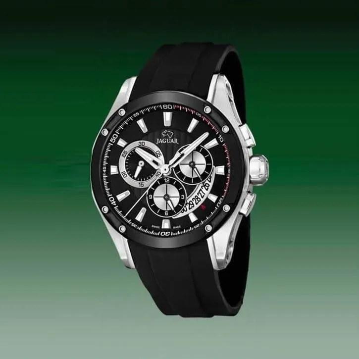 Reloj Jaguar J688 1 de hombre NEW con caja de acero ip black y correa 5b4ac9f0fe33