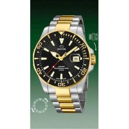 Reloj Jaguar J863/2 de hombre NEW con caja y brazalete de acero bicolor chapado en oro Diver
