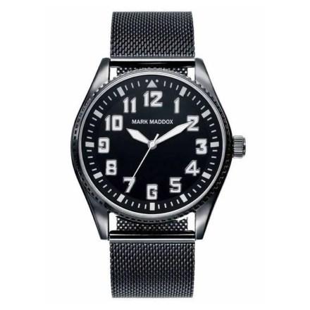 Reloj Mark Maddox HM6010-55 de hombre NEW con caja y brazalete de acero negro