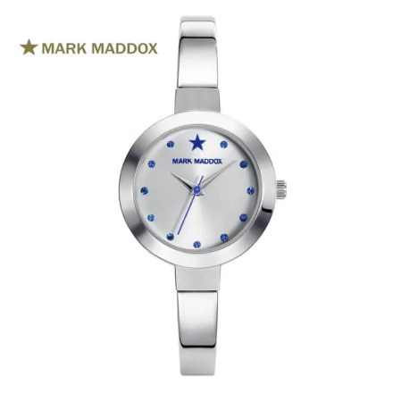 Reloj Mark Maddox MF0010-07 de mujer NEW con caja y brazalete de acero tipo pulsera analógico