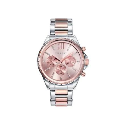Reloj Viceroy 40930-73 de mujer NEW con caja y brazalete de acero bicolor oro rosa