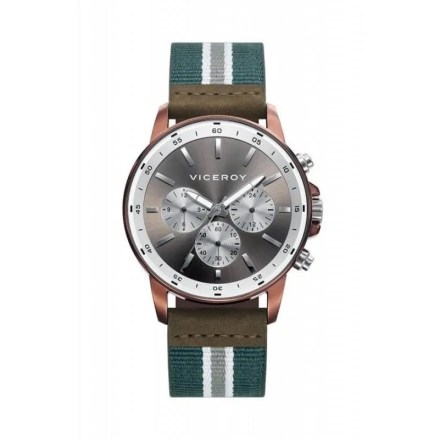 Reloj Viceroy 42283-47 de hombre NEW con caja de acero ip rosa y correa de nylon Beat