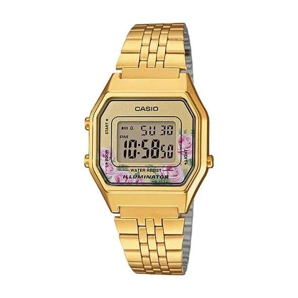 Reloj Casio LA680WEGA-4CEF de mujer NEW con caja de resina y brazalete chapado Casio Collection