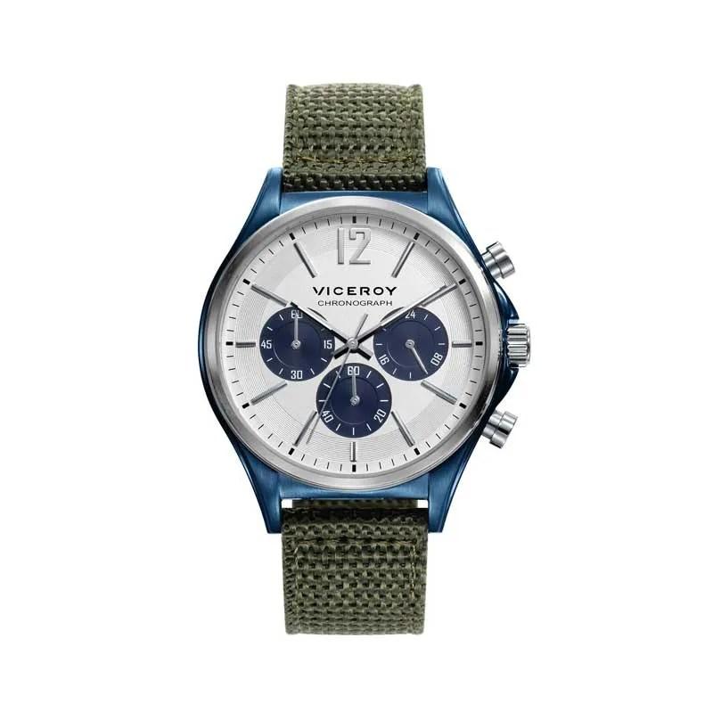 Reloj Viceroy 471109-05 de hombre NEW con caja de acero ip azul y correa 44e057148e02