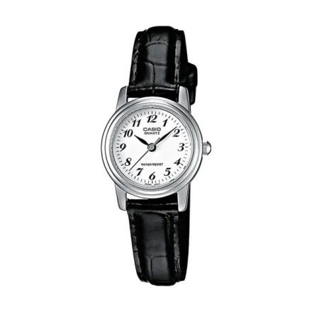 Reloj Casio de mujer LTP-1236PL-7BEF clásico con caja de latón y correa de cuero