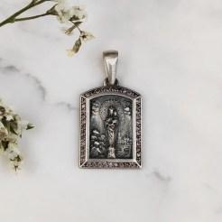 Medalla Virgen Pilar marrón