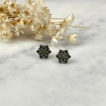 Pendientes loto mini verdes