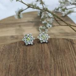 pendientes loto mini verde