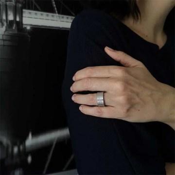 anillo plata y diamantes compra online