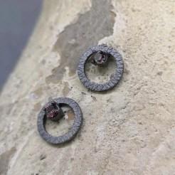 pendientes de plata origen marrón