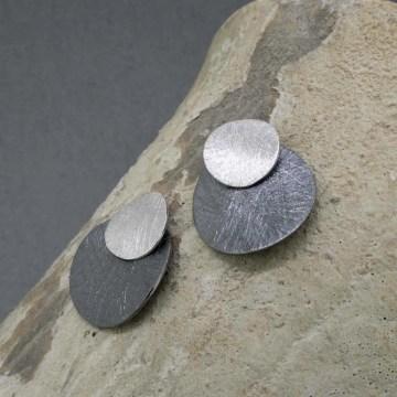 pendientes de plata de diseño eclipse