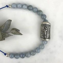 pulsera Virgen Pilar amatista brillo natural