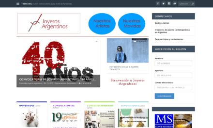 Joyeros Argentinos: nuevo diseño de sitio