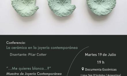 Charla y muestra de Pilar Cotter en Córdoba