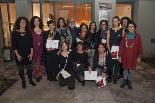 Premiados, jurado y organizadores de la Bienal