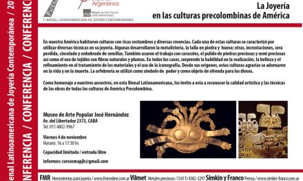 La joyería en las culturas de América Precolombina, charla de Cecilia Meroño, en el marco de la Bienal
