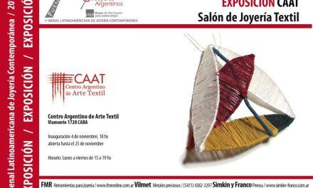 Primer Salón de Joyería Textil, en el CAAT, en el marco de la Bienal