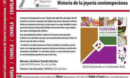 Ultima actividad de la Bienal: Charla sobre historia de la joyería contemporánea, a cargo de Roberto Galván