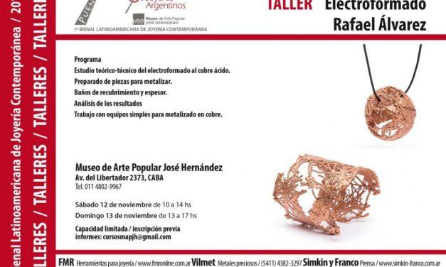 Taller de electroformado, por Rafael Alvarez, en el marco de la Bienal