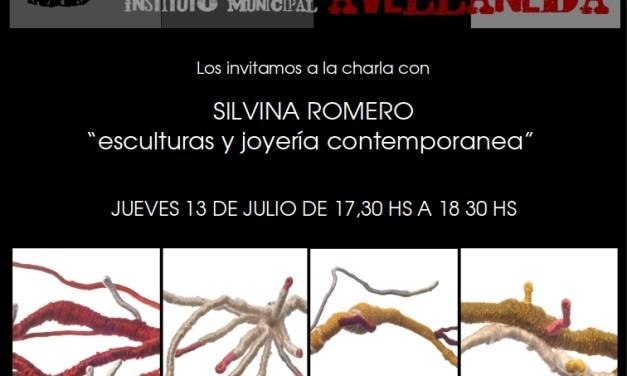 """""""Escultura y joyería contemporánea"""", charla de Silvina Romero en el Instituto Municipal de Cerámica de Avellaneda"""