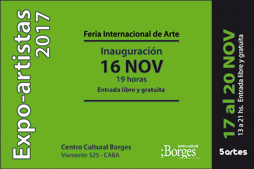 Feria internacional de arte en el Borges