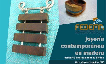 Concurso internacional de joyería en madera FEDEMA