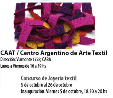 Convocatoria 3º Salón de Joyería Textil – CAAT