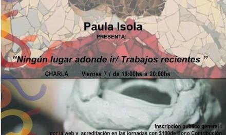 Paula Isola en las VIII Jornadas de las Artes del Fuego (Mar del Plata)