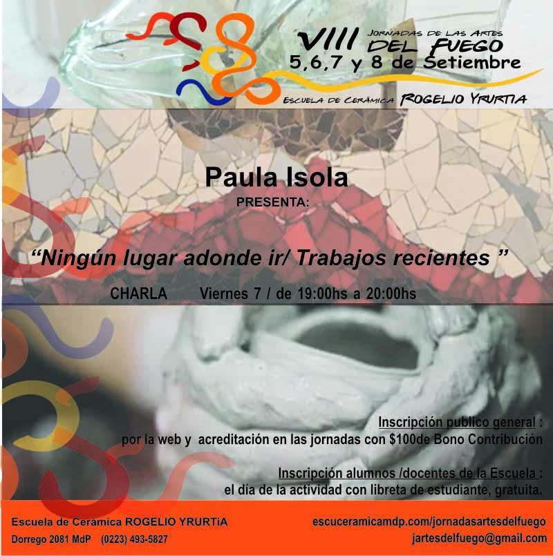 Paula Isola en las jornadas de las Artes del Fuego