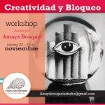 """Taller """"Creatividad y bloqueo"""", a cargo de Amaya Bouquet"""