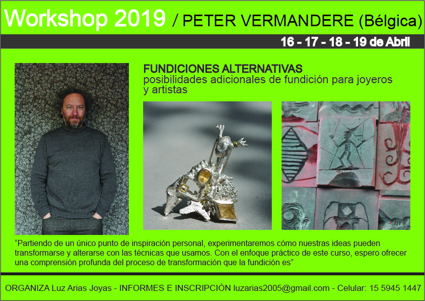 Peter Vermandere - Workshop fundición